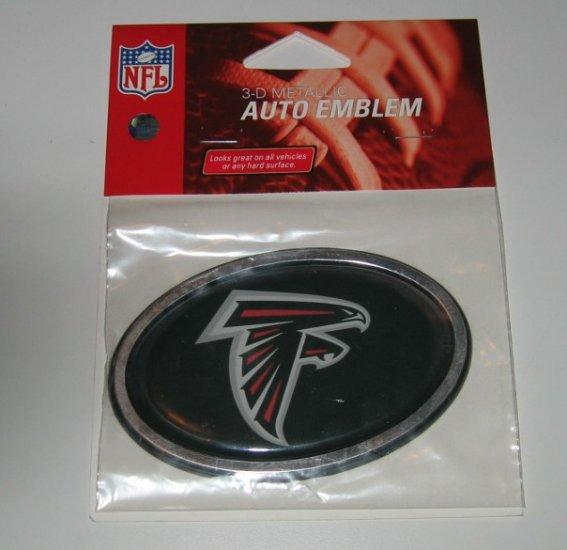 Atlanta Falcons 3-D Color Chrome Auto Car Emblem Gift