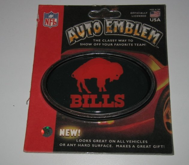 Buffalo Bills 3-D Color Chrome Auto Car Emblem Gift