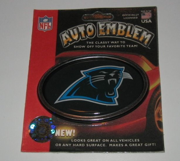 Carolina Panthers 3-D Color Chrome Auto Car Emblem Gift
