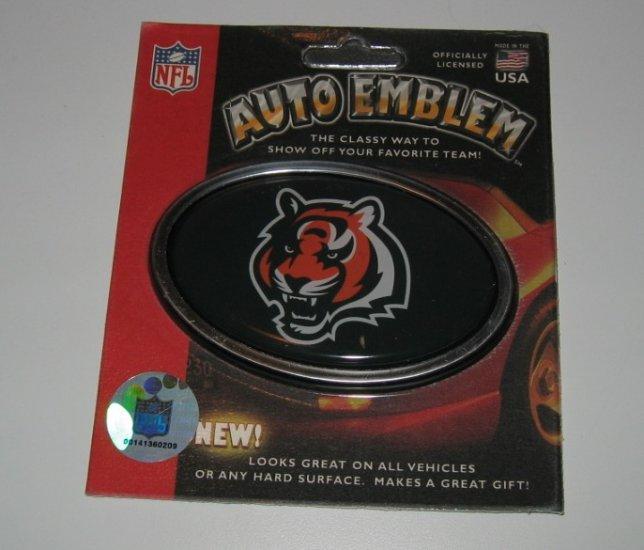 Cincinnati Bengals 3-D Color Chrome Auto Car Emblem Gift