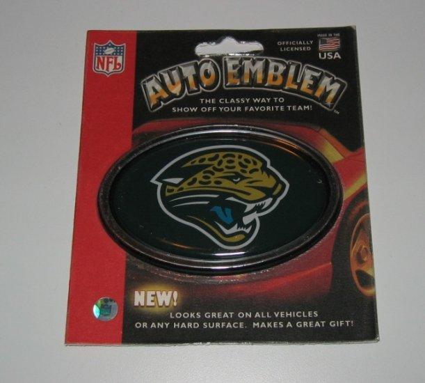 Jacksonville Jaguars 3-D Color Chrome Auto Car Emblem Gift