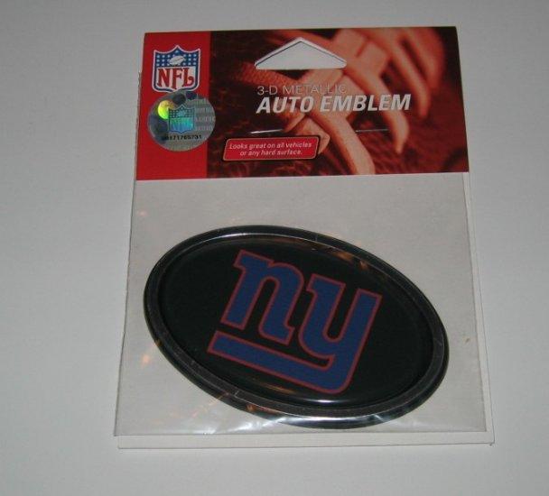 New York Giants 3-D Color Chrome Auto Car Emblem Gift