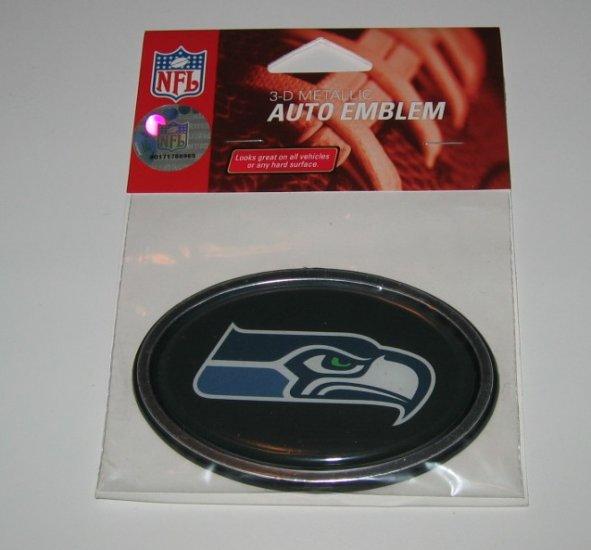 Seattle Seahawks 3-D Color Chrome Auto Car Emblem Gift