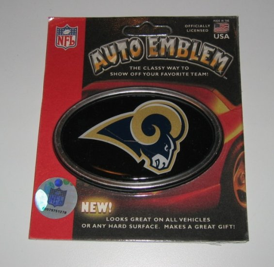 St. Louis Rams 3-D Color Chrome Auto Car Emblem Gift