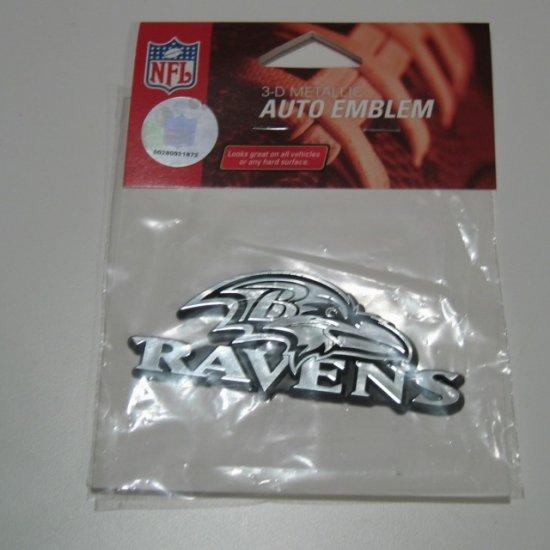 Baltimore Ravens Chrome Auto Car Emblem Gift