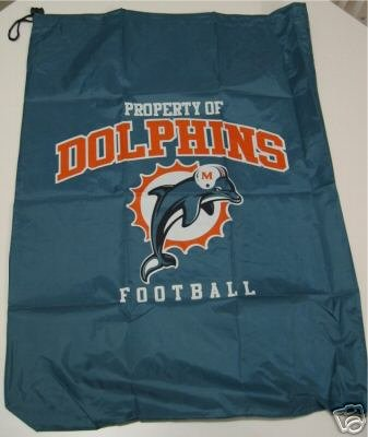 Miami Dolphins Laundry Bag Travel Sack Gift