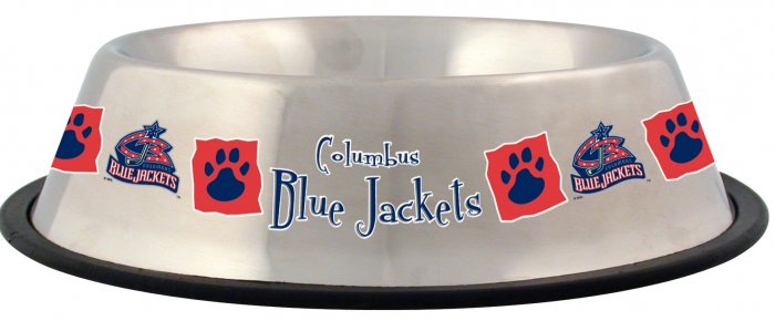Columbus Blue Jackets 32oz Stainless Steel Pet Dog Food Water Bowl Gift