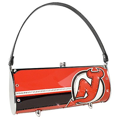 New Jersey Devils Littlearth Fender Flair Purse Bag Swarovski Crystals Hockey Gift