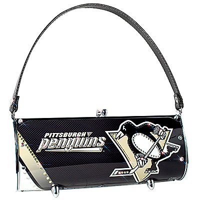 Pittsburgh Penguins Littlearth Fender Flair Purse Bag Swarovski Crystals Hockey Gift