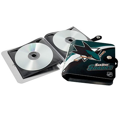 San Jose Sharks Littlearth Rock-n-Road CD DVD Holder Gift
