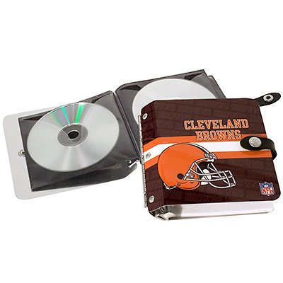 Cleveland Browns Littlearth Rock-n-Road CD DVD Holder Case Gift