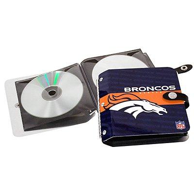 Denver Broncos Littlearth Rock-n-Road CD DVD Holder Case Gift