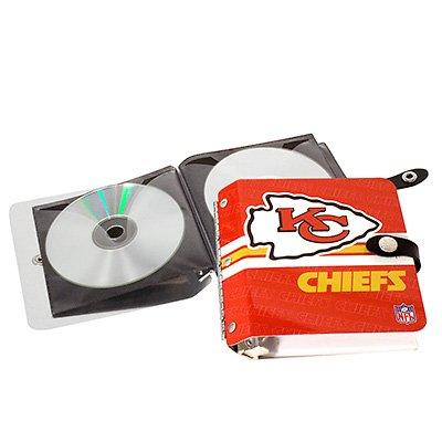 Kansas City Chiefs Littlearth Rock-n-Road CD DVD Holder Case Gift
