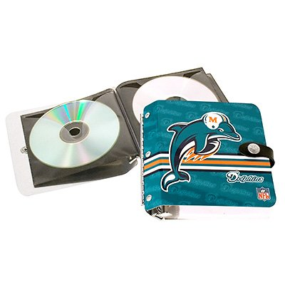 Miami Dolphins Littlearth Rock-n-Road CD DVD Holder Case Gift