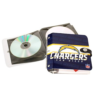 San Diego Chargers Littlearth Rock-n-Road CD DVD Holder Case Gift