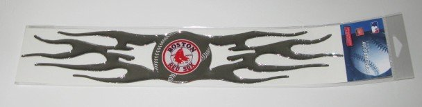 Boston Red Sox Auto Car Chrome Graphic Emblem Flames Gift