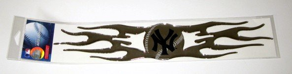 New York Yankees Auto Car Chrome Graphic Emblem Flames Gift