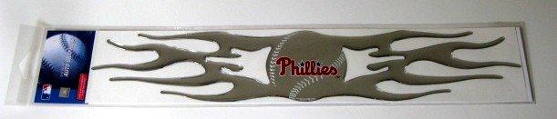 Philadelphia Phillies Auto Car Chrome Graphic Emblem Flames Gift