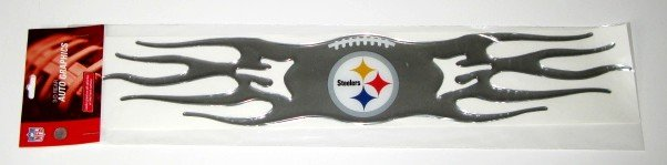 Pittsburgh Steelers Auto Car Chrome Graphic Emblem Flames Gift