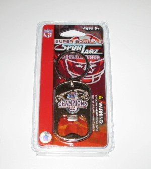 New York Giants Super Bowl XLII Champions Keychain Bottle Opener Gift