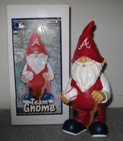 Atlanta Braves Baseball Garden Gnome Figure Indoor/Outdoor Gift