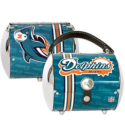 Miami Dolphins Littlearth Super Cyclone Purse Bag Gift