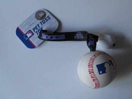 Colorado Rockies Pet Dog Baseball Ball Toss Tug Toy Gift