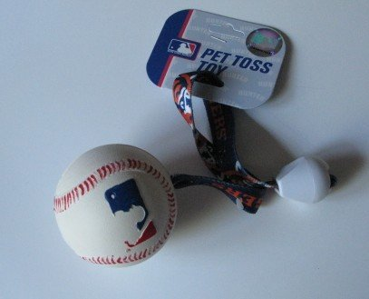 Detroit Tigers Pet Dog Baseball Ball Toss Tug Toy Gift