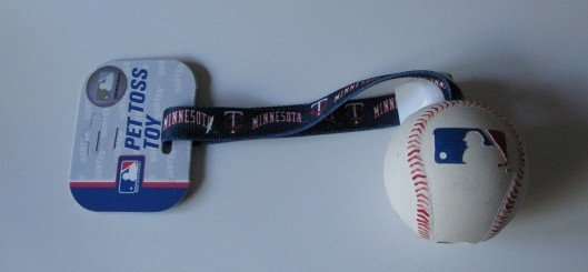 Minnesota Twins Pet Dog Baseball Ball Toss Tug Toy Gift