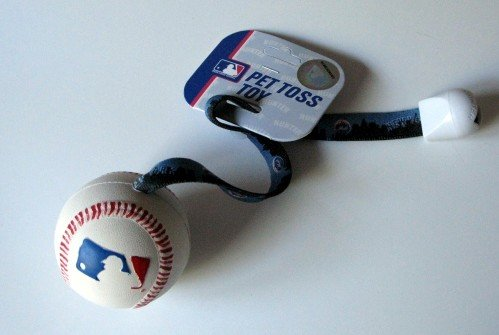 New York Mets Pet Dog Baseball Ball Toss Tug Toy Gift