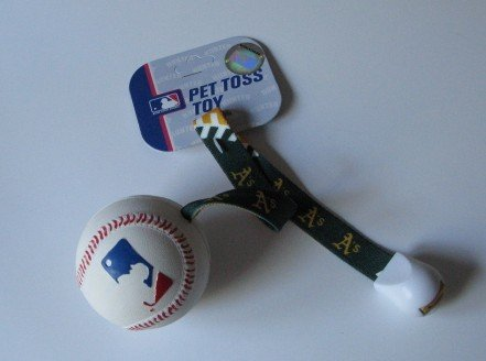 Oakland Athletics A's Pet Dog Baseball Ball Toss Tug Toy Gift