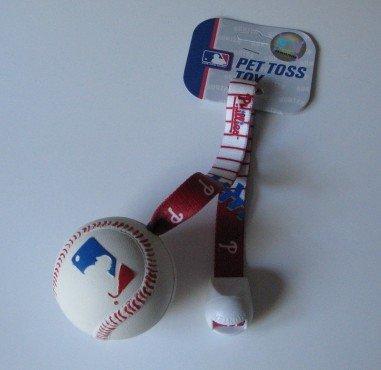 Philadelphia Phillies Pet Dog Baseball Ball Toss Tug Toy Gift