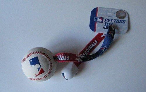 St. Louis Cardinals Pet Dog Baseball Ball Toss Tug Toy Gift