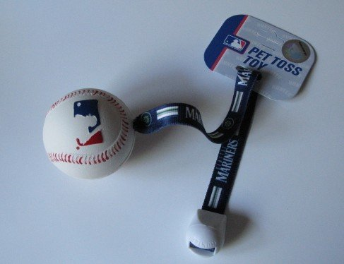 Seattle Mariners Pet Dog Baseball Ball Toss Tug Toy Gift