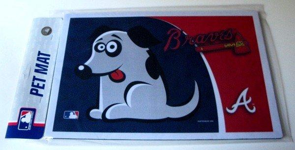 Atlanta Braves Dog Pet Food/Water Padded Mat Placemat Gift
