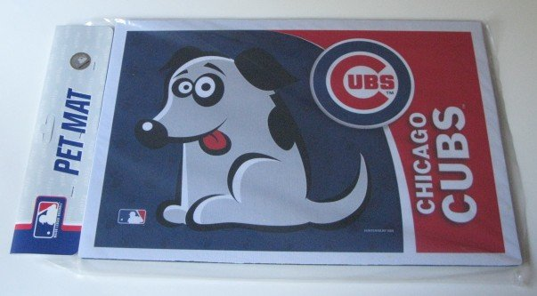 Chicago Cubs Dog Pet Food/Water Padded Mat Placemat Gift