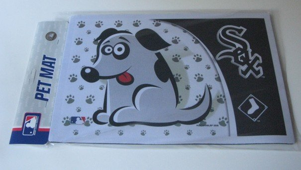 Chicago White Sox Dog Pet Food/Water Padded Mat Placemat Gift