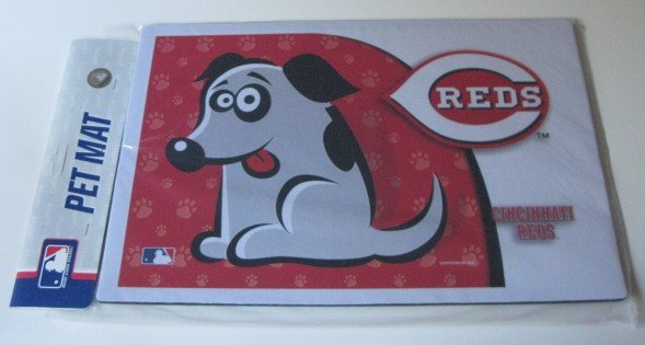 Cincinnati Reds Dog Pet Food/Water Padded Mat Placemat Gift