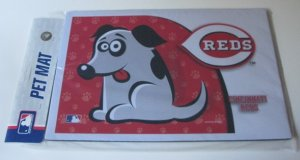 Cincinnati Reds Dog Pet Food/Water Padded Mat Placemat Gift