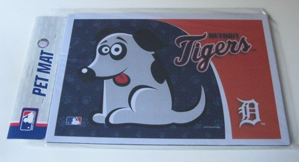 Detroit Tigers Dog Pet Food/Water Padded Mat Placemat Gift