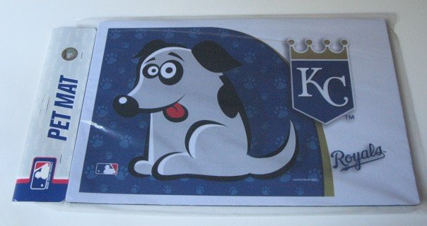 Kansas City Royals Dog Pet Food/Water Padded Mat Placemat Gift