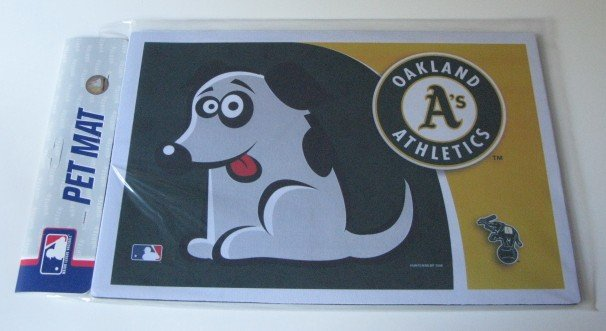Oakland Athletics A's Dog Pet Food/Water Padded Mat Placemat Gift