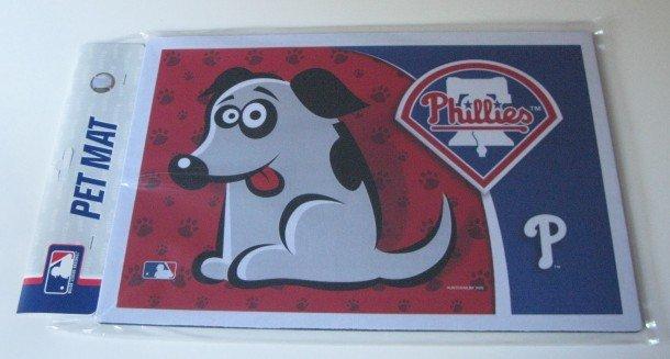 Philadelphia Phillies Dog Pet Food/Water Padded Mat Placemat Gift