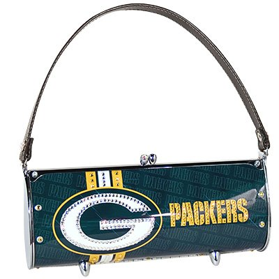 Green Bay Packers Littlearth Fender Flair Purse Bag Swarovski Crystals Gift