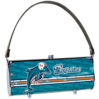 Miami Dolphins Littlearth Fender Flair Purse Bag Swarovski Crystals Gift