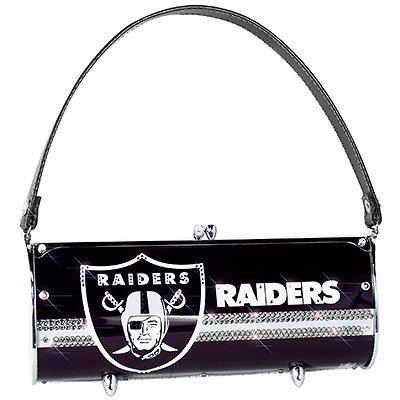 Oakland Raiders Littlearth Fender Flair Purse Bag Swarovski Crystals Gift