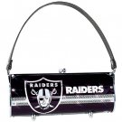 Oakland Raiders Littlearth Fender Flair Purse Bag Swarovski Crystals Gift