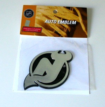 New Jersey Devils Chrome Auto Car Emblem Gift