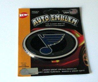 St. Louis Blues 3-D Color Chrome Auto Car Emblem Gift