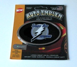 Tampa Bay Lightning 3-D Color Chrome Auto Car Emblem Gift